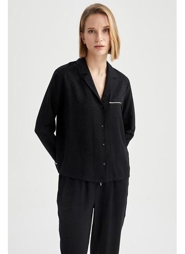 DeFacto Pijama Üst Siyah